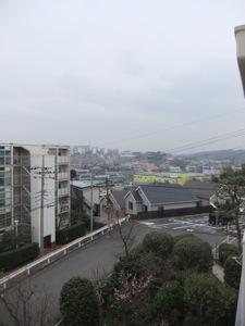 富士山が雲のせいで見えない風景