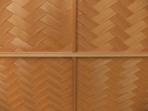 杉で編まれた天井