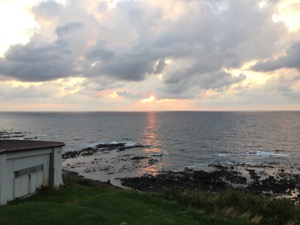 夕陽が日本海に沈む
